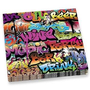 5 Packs - FUN Graffiti Party Paper Napkins